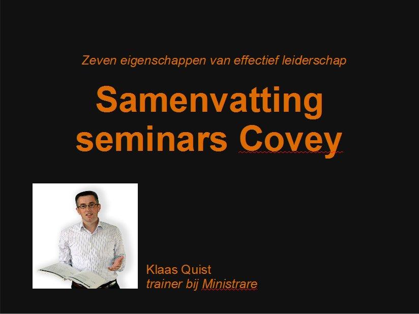 seminar Covey